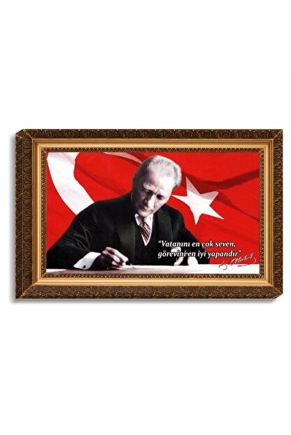 Ondört Avm Atatürk Kanvas Tablo Çerçeve Baskılı