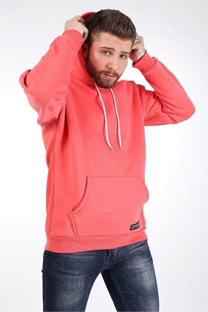 Millionaire Erkek Nar Çiçeği Kapüşonlu Oversize Sweatshirt