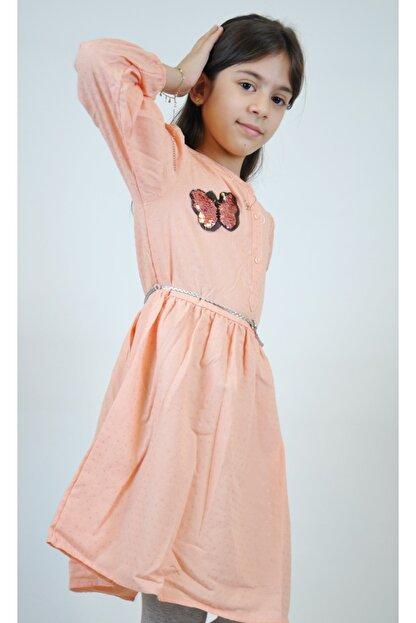 Timo Kız Çocuk Pudra Aplikeli Elbise 153309040