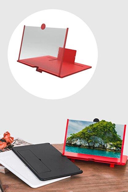 Buffer Taşınabilir Göz Yormayan 3d Cep Telefonu Mobil Tablet Hd Ekran Video Büyütücü Büyüteci