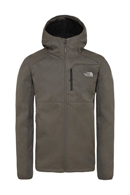 The North Face Quest Hooded Softshell Outdoor Erkek Mont Haki