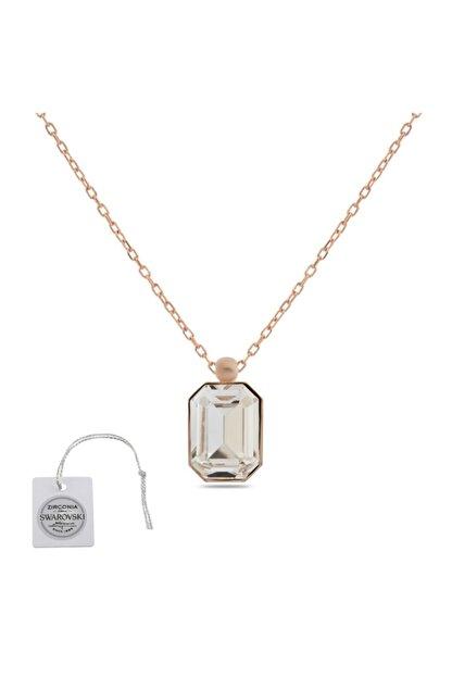 Swarovski Türker Jewelry Swr0068 Zirkonia Taşlı Bayan Kolye