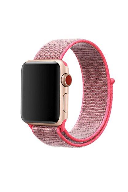 Zore Apple Watch 1 2 3 4 5 Uyumlu 42mm Kordon Spor Loop Hasır Cırt Cırtlı Kayış