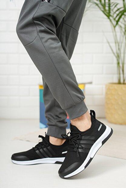 meyra moda Siyah Beyaz Erkek Sneaker
