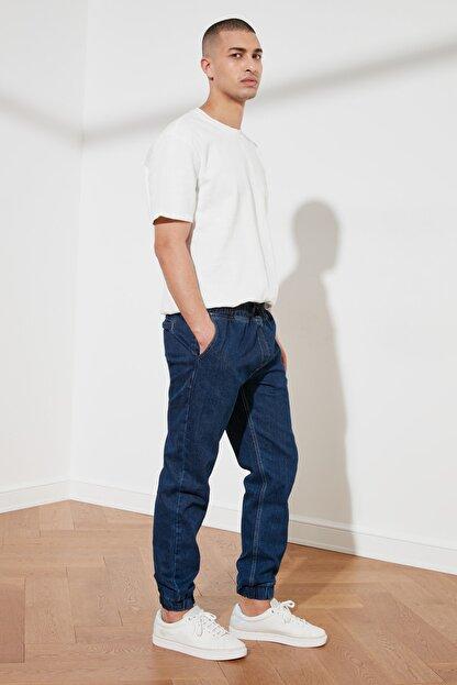 TRENDYOL MAN Lacivert Erkek Relax Fit Jogger Jeans TMNSS21JE0119