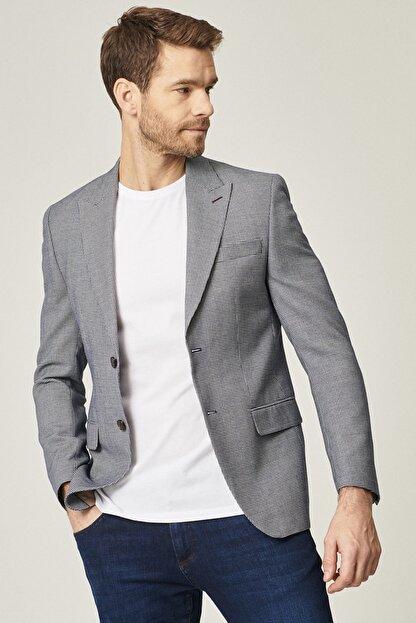 Altınyıldız Classics Erkek Lacivert Regular Fit Desenli Ceket