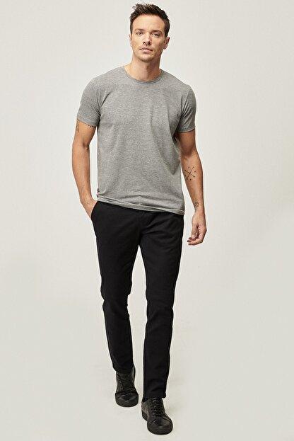 Altınyıldız Classics Erkek Siyah Kanvas Slim Fit Dar Kesim Yan Cep Chino Pantolon