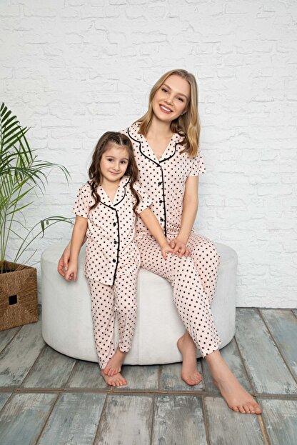 modalizy Anne Kız Puantiyeli Desen Pijama Kombinleri (Tek tek sepete eklemeniz gerekmektedir)