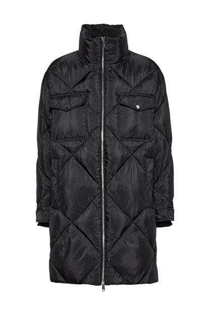 Tommy Hilfiger Kadın Siyah Mont Tjw Dıamond Quılted Coat DW0DW09076