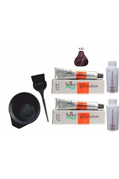 Silky Bitkisel Içerikli Saç Boyası 4.62 Patlıcan Moru 1+1,5 50ml X2adet