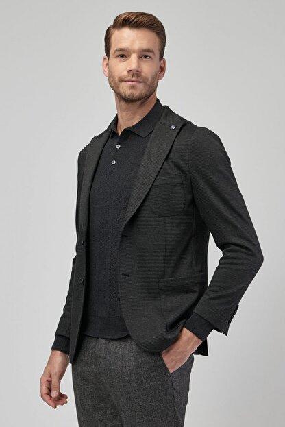 Altınyıldız Classics Erkek Antrasit Slim Fit Desenli Ceket