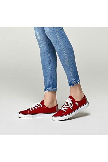 US Polo Assn TOGA 1FX Kırmızı Kadın Havuz Taban Sneaker 100918943