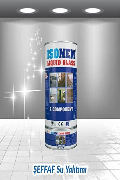 Isonem Liquid Glass (Sıvı Cam) 2 Kg Şeffaf Zemin Su Yalıtımı