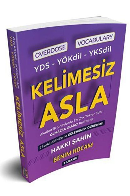 Benim Hocam Yayınları Yds Yökdil Yksdil Overdose Vocabulary Kelimesiz Asla