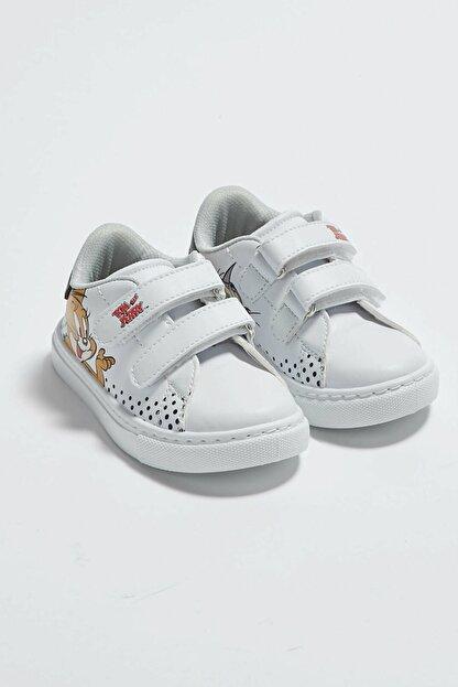 LC Waikiki Tom&Jerry Erkek Bebek Beyaz J5E Sneaker