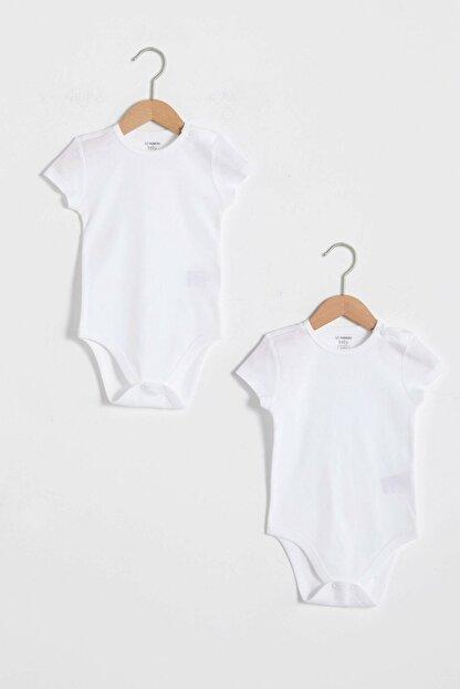 LC Waikiki Erkek Bebek Optik Beyaz Ffb Bebek Body & Zıbın