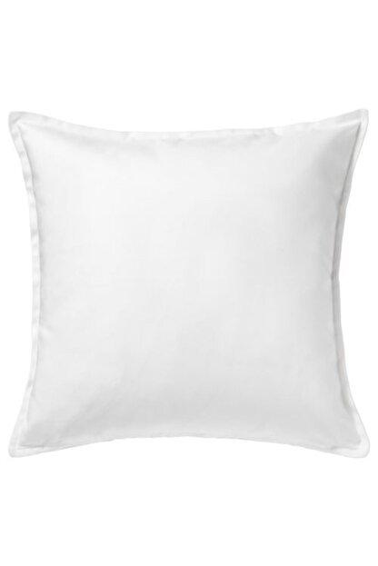 IKEA Beyaz Fermuarlı Yastık Kılıfı