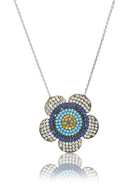 By Barun Silver Kadın Gümüş Rengi 925 Ayar Gümüş  Papatya Kolye  Kl-0300