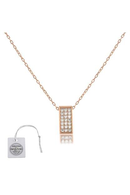Swarovski Türker Jewelry Swr0071 Zirkonia Taşlı Bayan Kolye