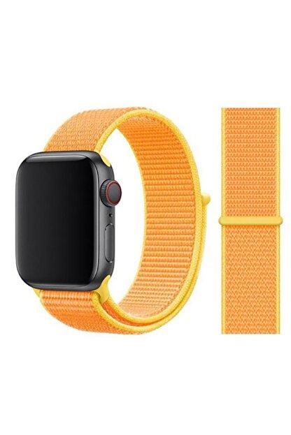 Zore Apple Watch 1 2 3 4 5 Serisi  Uyumlu  Spor Loop Hasır Cırt Cırtlı Kayış Kordon 42 mm