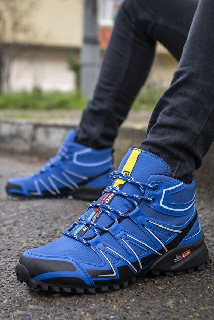 Ayakkabix Erkek Mavi Kışlık Ayakkabı Bot