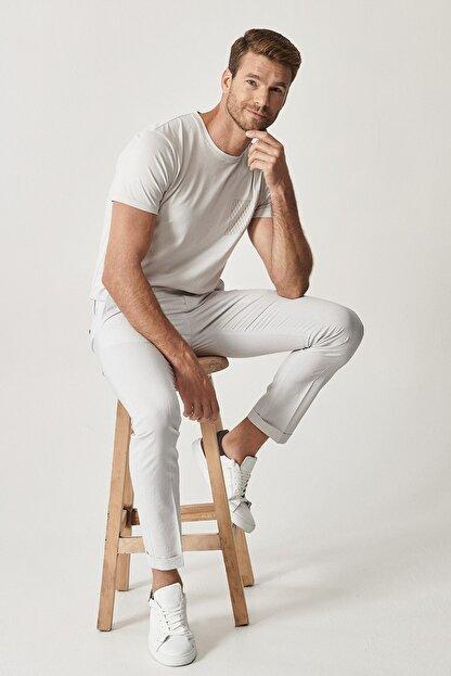 Altınyıldız Classics Erkek Gri Slim Fit Desenli Pantolon