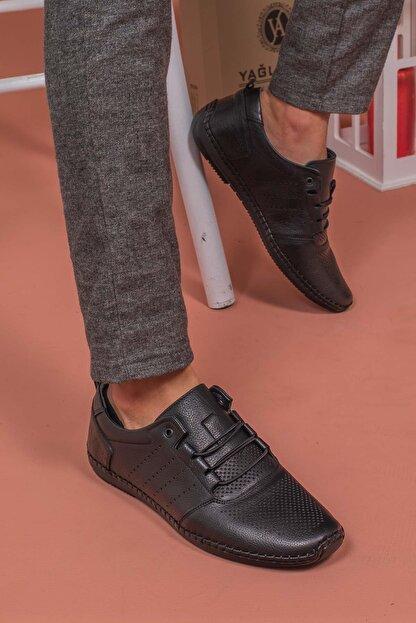 Yağlıoğlu Kundura Erkek Hakiki Deri Topuk Jelli Çarık Ayakkabısı
