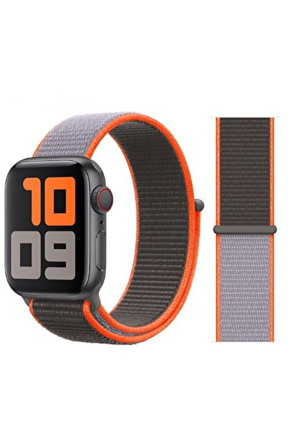 Zore Watch 1 2 3 4 5 Serisi 42mm Kordon Spor Loop Hasır Cırt Cırtlı Kayış