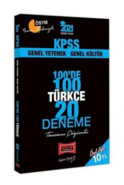 Yargı Yayınevi 2021 Kpss Türkçe 100 De 100 Tamamı Çözümlü 20 Deneme