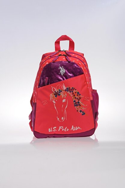 US Polo Assn Pembe Kız Çocuk  Okul Çantası 8681379478601