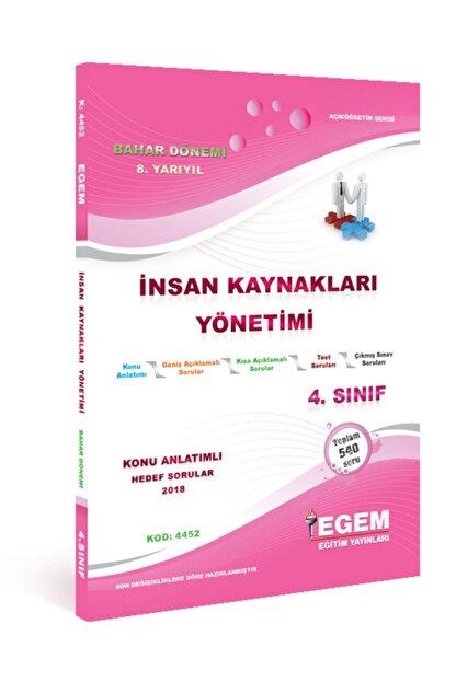 Egem Yayınları Insan Kaynakları Yönetimi Konu Anlatımlı Soru Bankası-bahar Dönemi(8.yarıyıl)