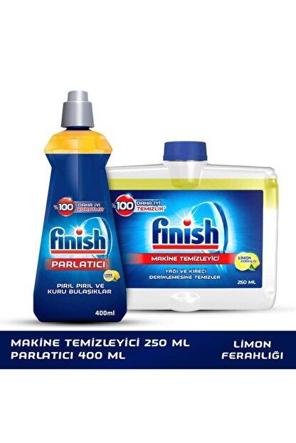 Finish Bulaşık Makinesi Temizleyici Sıvı 250 ml Limon + Parlatıcı 400 ml Limon