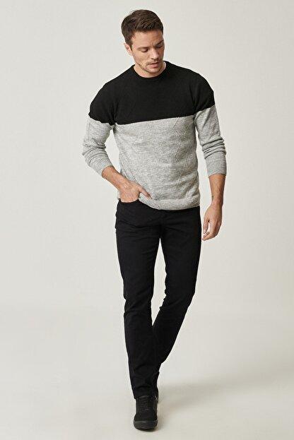 Altınyıldız Classics Erkek Siyah Kanvas Slim Fit Dar Kesim 5 Cep Pantolon