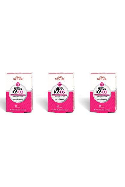 New Life Mena K2+d3 Natural Vitamin 30 Kapsül 3'lü Paket