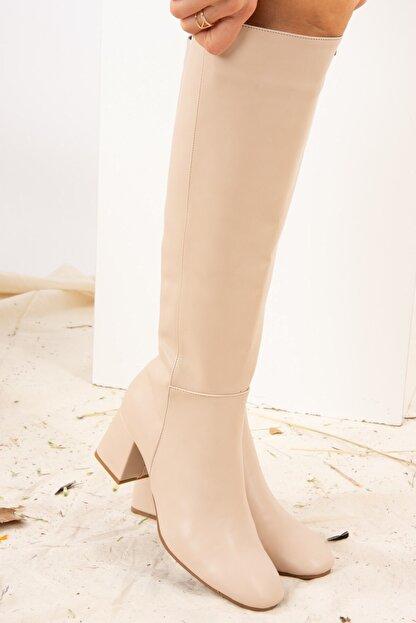 Fox Shoes Ten Suni Deri Kadın Çizme J518023009