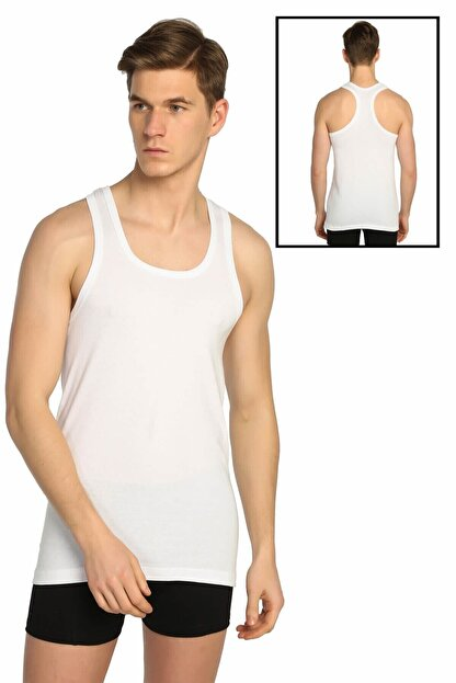 Tutku Erkek Beyaz Ribana Spor Atlet Elf568t0118ccm
