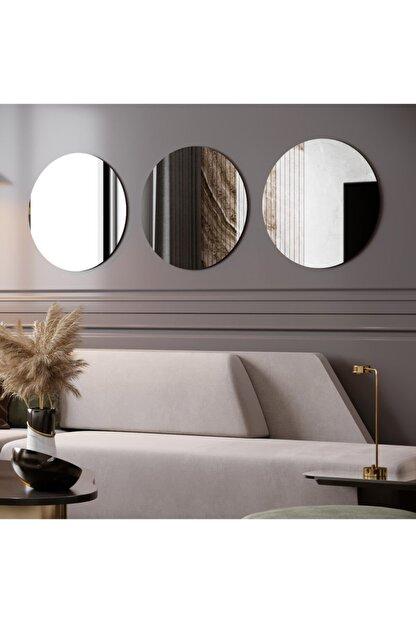 Camex Store 3 Parçalı Dekoratif Yuvarlak Şekilli Ayna