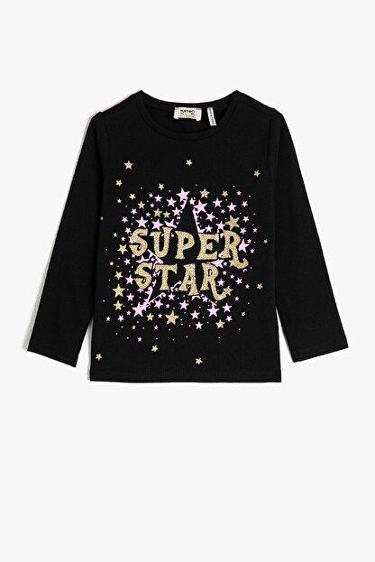 Koton Siyah Kız Çocuk T-Shirt