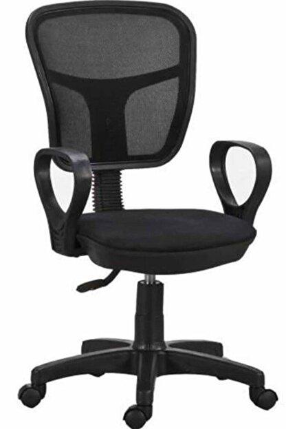HEREVİM Siyah Fileli Bilgisayar Ofis Çalışma Sandalyesi Koltuğu
