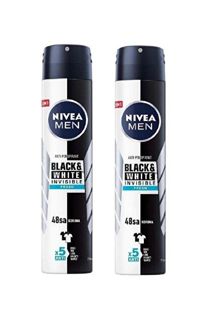 Nivea Men Black & White Invisible Fresh 200 ml Erkek Deodorant 2 Adet