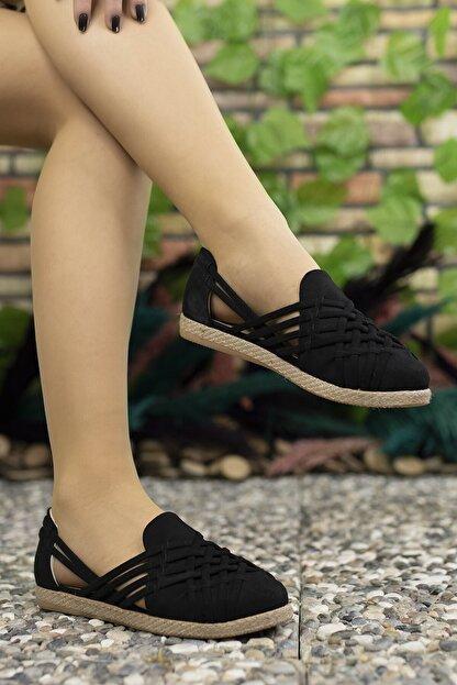 Riccon Kadın Siyah Süet Günlük Ayakkabı 0012or01