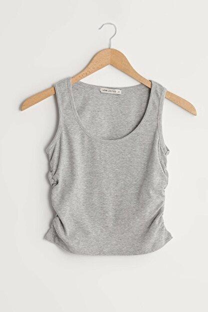 LC Waikiki Kadın Açık Gri Melanj LCW Limited Bluz