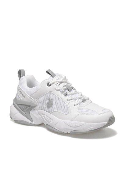 US Polo Assn MAYBE WMN Beyaz Kadın Sneaker Ayakkabı 100605072