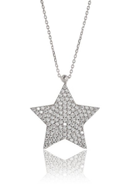 By Barun Silver Yıldız Kolye - Gümüş Rengi