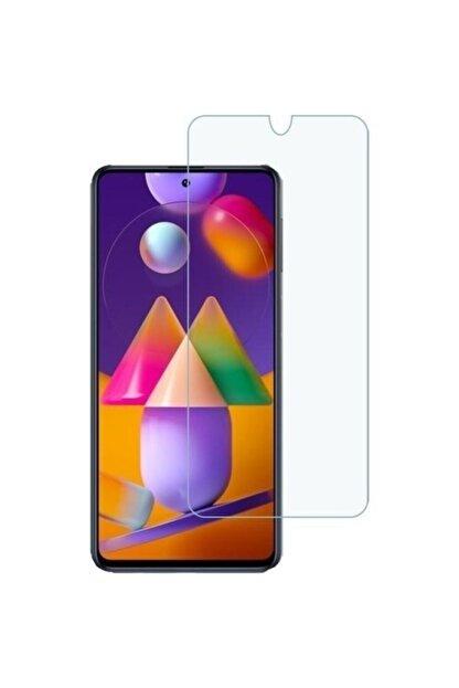Fibaks Samsung Galaxy M31s Uyumlu 9h Temperli Cam Sert Şeffaf Ekran Koruyucu