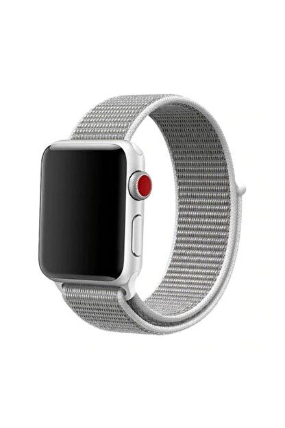 Zore Apple Watch 1 2 3 4 5 Serisi 42 mm Uyumlu Kordon Spor Loop Hasır Cırt Cırtlı Kayış