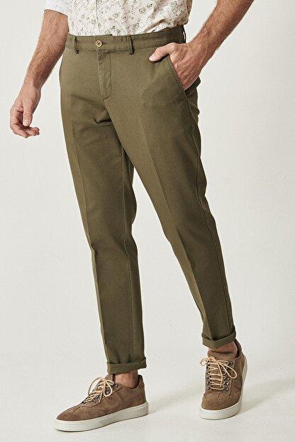 Altınyıldız Classics Erkek Yeşil Slim Fit Desenli Pantolon