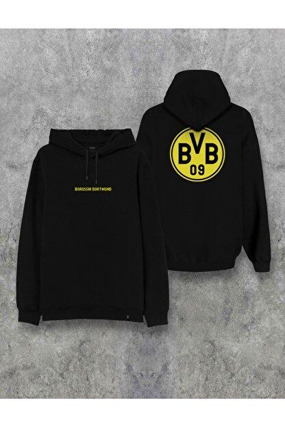 Darkia Borussia Dortmund Çift Taraf Baskılı Kapşonlu Tasarım Hoodie