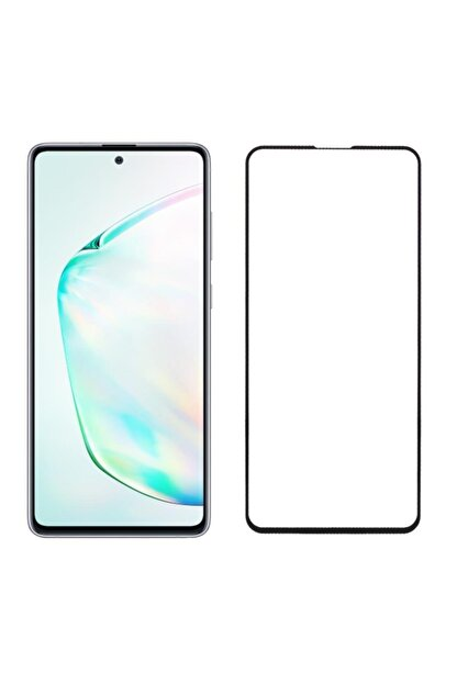 EPRO Samsung Note 10 Lite Uyumlu Siyah Seramik Nano Ekran Koruyucu Tam Kaplayan Kırılmaz Esnek Cam