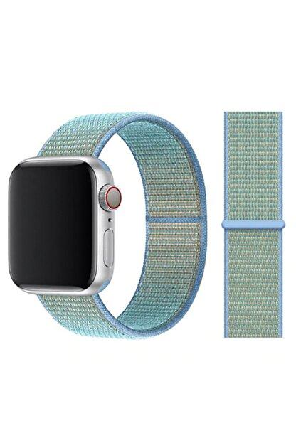 Zore Apple Watch 1 2 3 4 5 Serisi 42mm Kordon Spor Loop Hasır Cırt Cırtlı Kayış